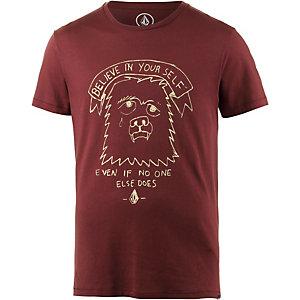 Volcom Self Lw Printshirt Herren bordeaux