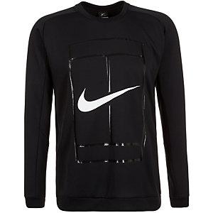 Nike Court Crew Sweatshirt Herren schwarz / weiß