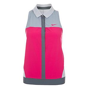 Nike Premier Tennis Polo Damen pink / grau