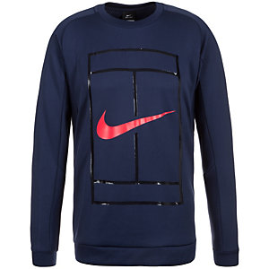 Nike Court Crew Sweatshirt Herren dunkelblau / rot
