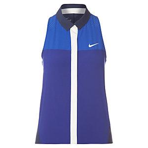 Nike Premier Tennis Polo Damen dunkelblau / blau
