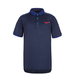 Nike Court Advantage Solid Tennis Polo Jungen dunkelblau / rot