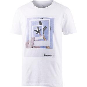 Cleptomanicx Framed Printshirt Herren weiß