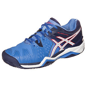 ASICS Gel-Resolution 6 Cla Tennisschuhe Damen blau / weiß / rot