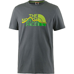 The North Face Mountain Line Printshirt Herren oliv