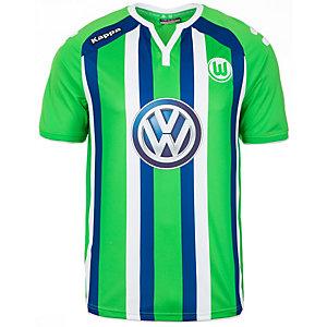 KAPPA VfL Wolfsburg Away 2015/2016 Fußballtrikot Herren grün / blau / weiß