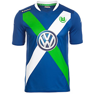 KAPPA VFL Wolfsburg 3rd 2015/2016 Fußballtrikot Herren blau