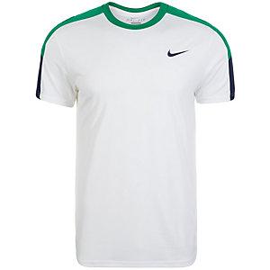 Nike Team Crew Tennisshirt Herren weiß / grün / blau