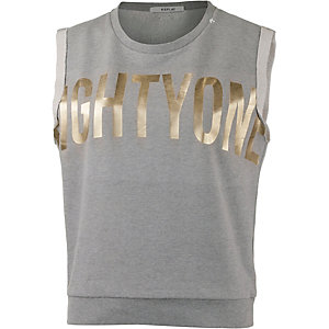REPLAY Tanktop Damen grau/gold