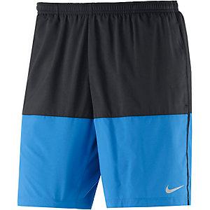 Nike Distance Laufshorts Herren schwarz/blau