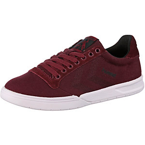hummel HML Stadil Canvas Low Sneaker Damen rot
