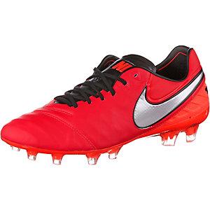 Nike TIEMPO LEGEND VI FG Fußballschuhe Herren rot/silber
