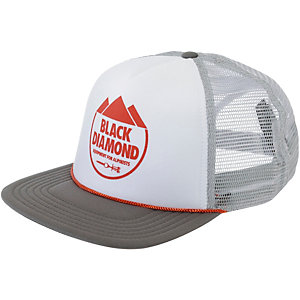 Black Diamond Flat Bill Trucker Cap weiß/grau