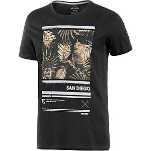 Protest Bolder Printshirt Herren schwarz