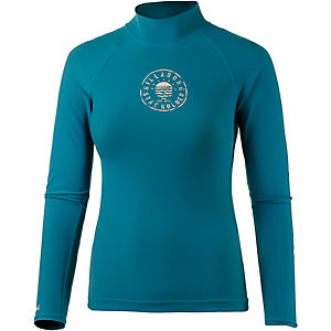 Billabong Logo LS Surf Shirt Damen petrol
