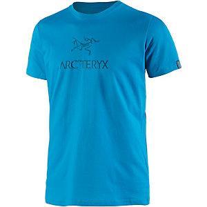 Arcteryx Arc´word SS Crew Printshirt Herren blau