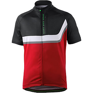 Gore Power Trail Fahrradtrikot Herren rot schwarz