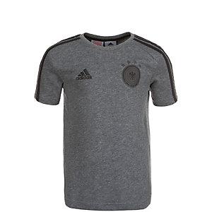 adidas DFB 3 Stripes EM 2016 Fanshirt Kinder grau / schwarz