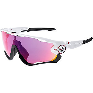 Oakley Prizm Jawbreaker Sportbrille polished white/prizm road