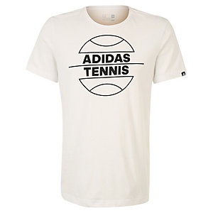 adidas Tennis Ball Tennisshirt Herren weiß / schwarz