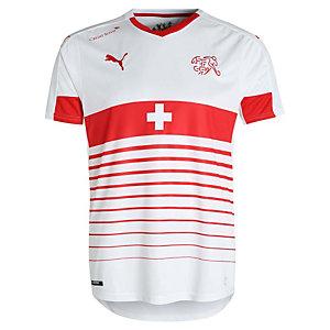 PUMA Schweiz Trikot Away EM 2016 Fußballtrikot Herren weiß / rot