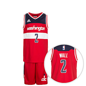 adidas Washington Wizards Wall Basketball Trikot Kinder rot / blau / weiß