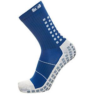 TruSox Mid-Calf Thin Fußballstrümpfe Herren blau / weiß