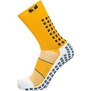 TruSox Mid-Calf Thin Fußballstrümpfe Herren gelb / schwarz