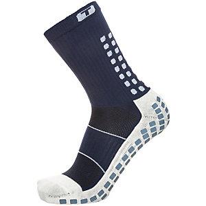TruSox Mid-Calf Thin Fußballstrümpfe Herren dunkelblau / weiß