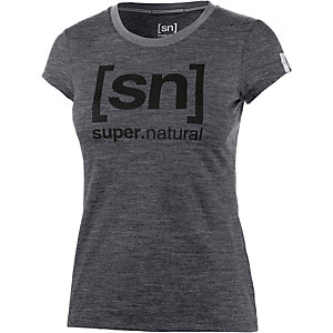 super natural Printshirt Damen anthrazit