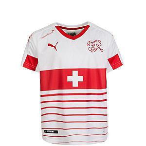 PUMA Schweiz Trikot Away EM 2016 Fußballtrikot Kinder weiß / rot