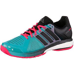 adidas Energy Boost Tennisschuhe Herren dunkelgrün/rot