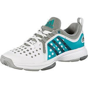adidas Barricade Classic Tennisschuhe Damen weiß/türkis