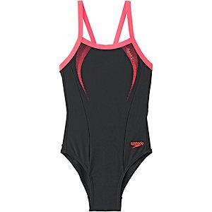 SPEEDO Badeanzug Mädchen schwarz/orange
