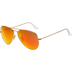 RAY-BAN Aviator 0RB3025 112/69 58 Sonnenbrille goldfarben/orange