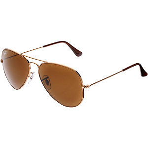 RAY-BAN Aviator 0RB3025 001/57 58 polarized Sonnenbrille gold