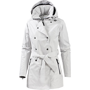 HELLY HANSEN Welsey Trenchcoat Damen hellgrau
