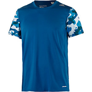 adidas Techfit Kompressionsshirt Herren blau