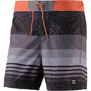 billabong vertigo layback badeshorts herren schwarz grau orange im online shop von sportscheck. Black Bedroom Furniture Sets. Home Design Ideas