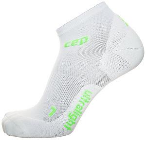 CEP Ultralight Low Cut Kompressionsstrümpfe Damen weiß / grün