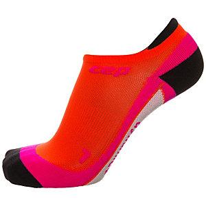 CEP No Show Kompressionsstrümpfe Damen orange / pink