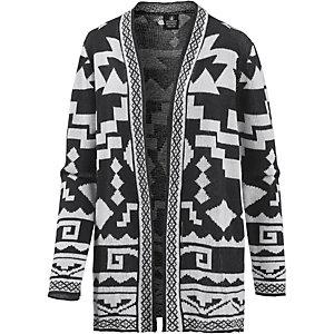 Volcom Show Down Sweater Strickjacke Damen schwarz/weiß