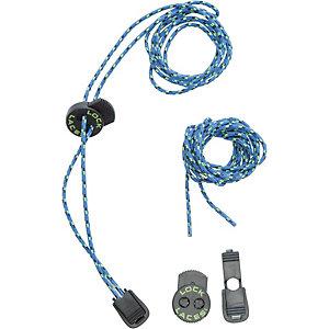 NATHAN Lock Laces Trail Schuhbänder blau/grün