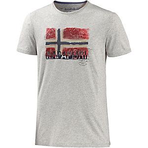 Napapijri Sollas Printshirt Herren hellgrau