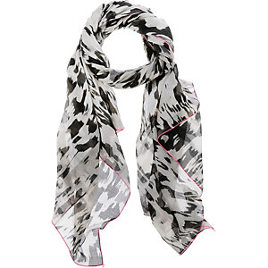 Ichi Schal Damen offwhite/grau