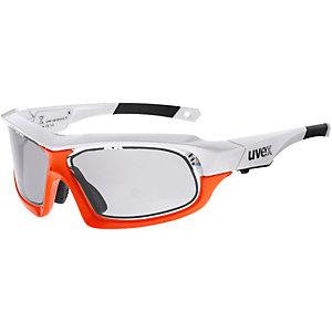 Uvex Variotronic ff Sportbrille white orange
