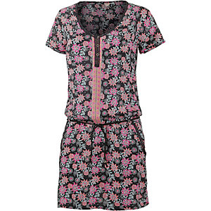 Rip Curl Flower Power Kurzarmkleid Damen schwarz/allover