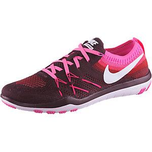 Nike Free TR Focus Flyknit Fitnessschuhe Damen weinrot/weiß