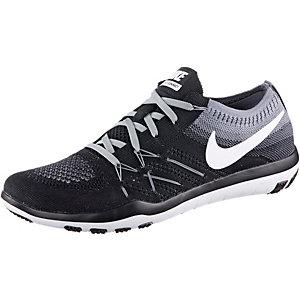 Nike Free TR Focus Flyknit Fitnessschuhe Damen schwarz/grau