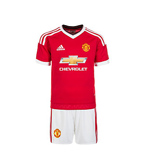 adidas Manchester United Minikit Home 15/16 Fußballtrikot Kinder rot / weiß / schwarz